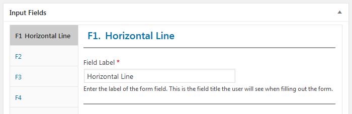 WordPress plugin Staff List, Staff template, input field Horizontal Line, label option