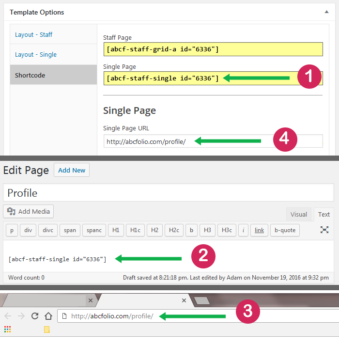 shortcode-for-single-page