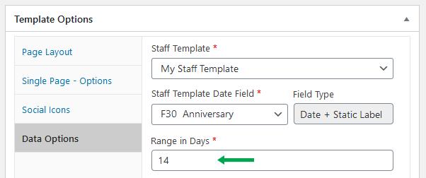 wordpress plugin staff list birthdays data options