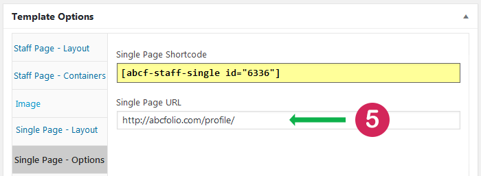 Staff List plugin. Create and publish single page. Step 5 paste single page URL into template.