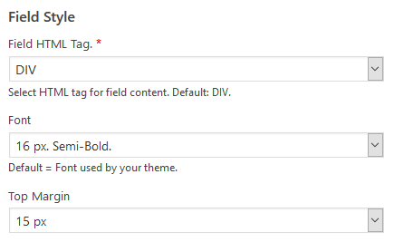 wordpress plugin staff list field style options