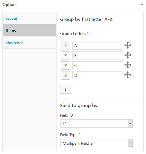 wordpress plugin staff list groups group by first letter