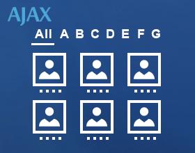staff list a-z menu ajax