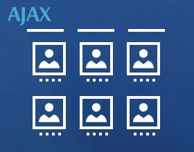 staff list categories menu ajax