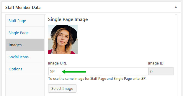 How to select the same image for Staff and Single Pages