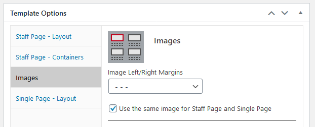 wordpress plugin staff list, single page image global option