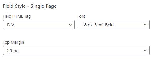 wordpress plugin staff list field style options single page